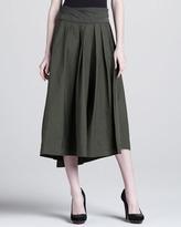 Donna Karan Jersey-Waist High-Low Skirt