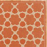 Soleil Orange Lattice Outdoor Rug