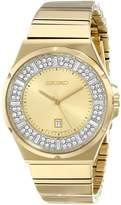 Seiko Women's SXDF72 Analog Display Japanese Quartz Gold Watch