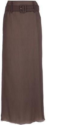 Prada Belted Maxi Skirt