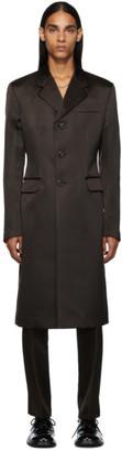 Prada Brown Silk Coat
