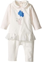 Armani Junior Polka Dot Flutter Frog Footie Girl's Jumpsuit & Rompers One Piece