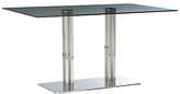 John Lewis Tropez Rectangular 6 Seater Glass Top Dining Table