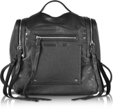 McQ by Alexander McQueen Black Leather Loveless Convertible Box Bag