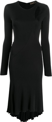 Versace Pre-Owned 2000s Cut-Out Detail Fitted Dress