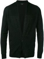 Roberto Collina striped trim cardigan - men - Cotton - 48