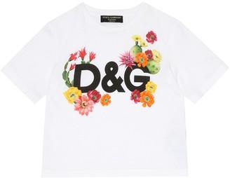 Dolce & Gabbana Kids Exclusive to Mytheresa Logo cotton jersey T-shirt