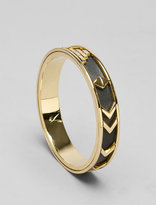 House of Harlow Gold Aztec Leather Bangle