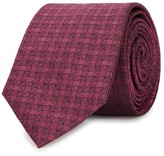 Peckham Rye Dark Pink Geometric-jacquard Silk Tie