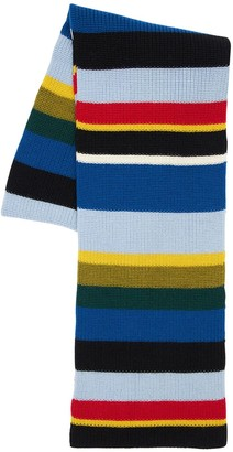 Loewe Striped Wool Knit Scarf