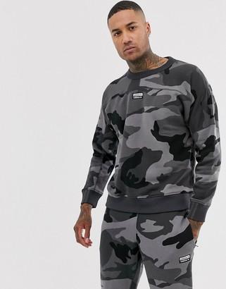 adidas vocal sweatshirt with back print in camo-Grey