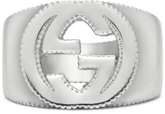 Gucci Interlocking G ring in silver