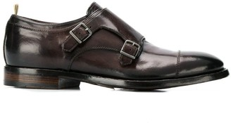 Officine Creative Emory buckle monk shoes