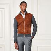 Ralph Lauren Purple Label Suede-Front Knit Jacket