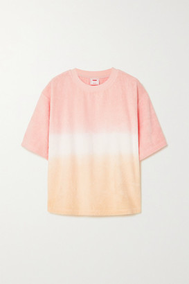 Terry. Tie Ombre Cotton T-shirt