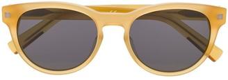 Ermenegildo Zegna Matte-Finish Square Frame Sunglasses