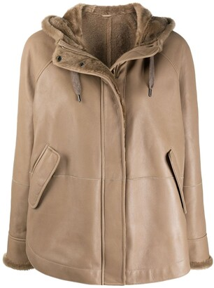 Brunello Cucinelli Hooded Leather Jacket