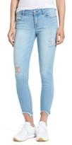 1822 Denim Women's Raw Edge Skinny Jeans