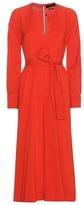 Isabel Marant Dayna Silk And Virgin Wool-blend Dress