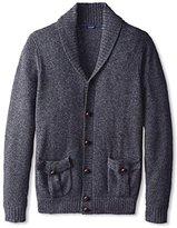 Thirty Five Kent Men's Cashmere Marled Button Shawl Collar Cardigan Sweater