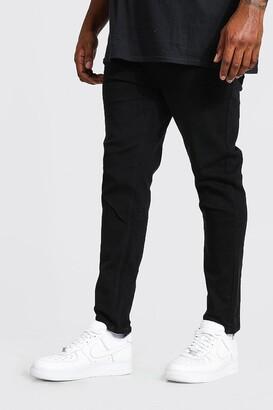 boohoo Mens Black Big & Tall Skinny Fit Jeans, Black