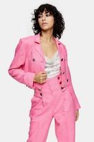 Topshop IDOL Pink Cropped Blazer