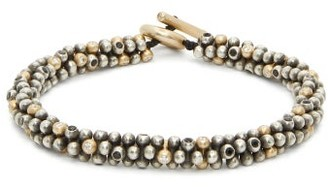 M. Cohen Jacks Beaded Sterling Silver & Gold Bracelet - Silver Multi