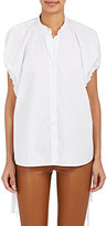 Helmut Lang Women's Cotton Tie-Cuff Blouse