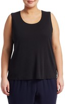 Eileen Fisher Eileen Fisher, Plus Size Silk Tank Top
