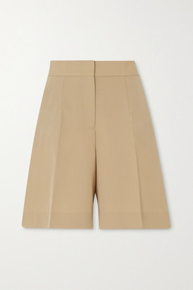 Victoria Victoria Beckham Pleated Twill Shorts - Camel