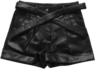 Maje Fall Winter 2019 Black Leather Shorts for Women
