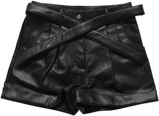Maje Fall Winter 2019 Black Leather Shorts