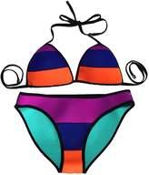 Emmas Style Womens 2 Pieces Neoprene Bikini Swimsuit