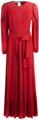 Philosophy di Lorenzo Serafini Tie-waist Pleated Dress