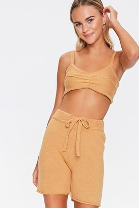 Forever 21 Sweater-Knit Drawstring Shorts