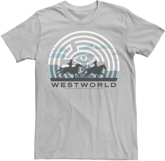 Licensed Character Men's Westworld Horse Ride Silhouettes Logo Tee