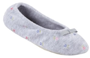 Isotoner Signature Isotoner Embroidered Terry Ballerina Slipper, Online Only