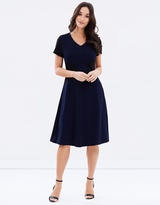 Privilege Lightweight Ponte A-Line Dress