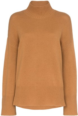 Frame High Low Turtleneck Jumper