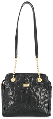 Gianfranco Ferre Pre-Owned 1980s crocodile effect shoulder bag