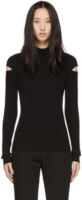 Helmut Lang Black Slash Rib Turtleneck