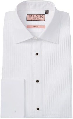 Thomas Pink Evening Classic Fit Pleated Dress Shirt