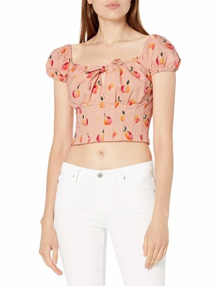 Finders Keepers findersKEEPERS Women's Tutti Frutti Square Neck Short Puff Sleeve Cropped Bodice