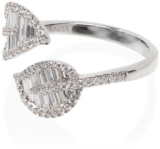 Anita Ko 18kt White Gold And Diamond Wrap-Around Foliate Ring