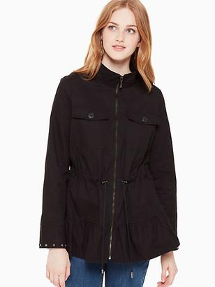 Kate Spade Stud Embellished Twill Jacket