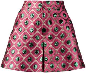 La DoubleJ Geometric Fitted Shorts