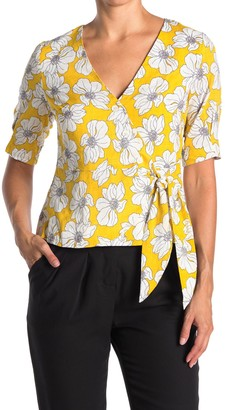 FRNCH Floral Print Side Tie Top