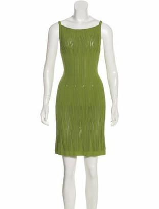 Alaia Sleeveless Mini Dress w/ Tags Green