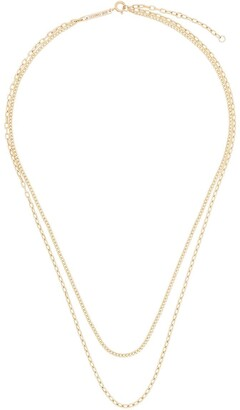 Zoë Chicco 14kt Yellow Gold Double Chain Necklace