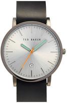 Ted Baker Men's Ensorr Leather Strap Watch